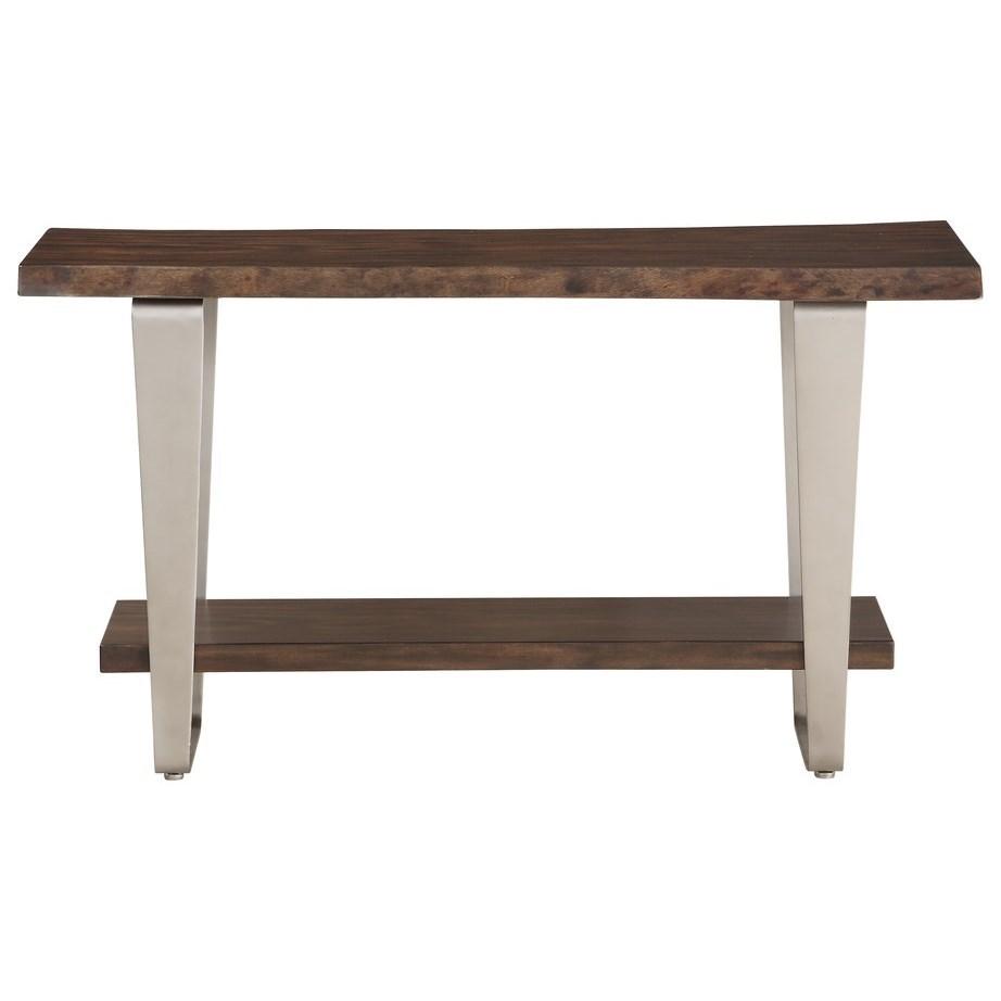 Sofa Table w/ Live Edge Solid Mahogany Top