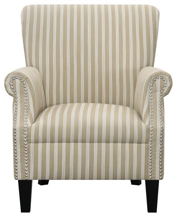 U3538 BEIGE Nail Head Chair by Emerald at Furniture Fair - North Carolina