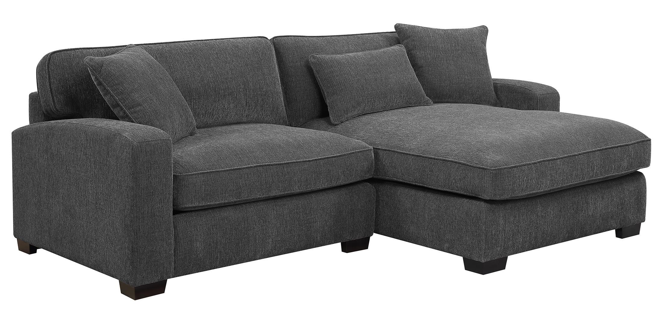 Charcoal 2 Piece Sectional Sofa