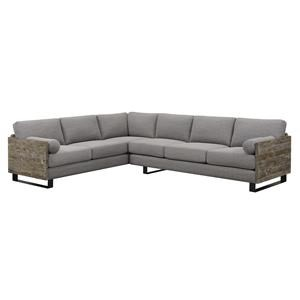 Emerald Interlude Light Gray 2 Piece Sectional