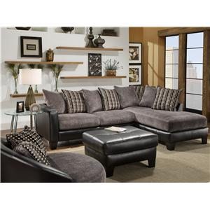 Wondrous Encore E360 Casual Two Toned Sectional Sofa Gmtry Best Dining Table And Chair Ideas Images Gmtryco