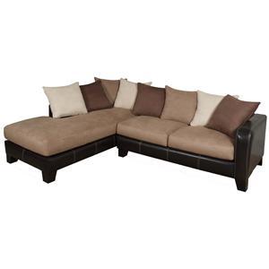 Phenomenal Encore E360 Casual Two Toned Sectional Sofa Creativecarmelina Interior Chair Design Creativecarmelinacom