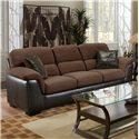 Encore E388 Casual Sofa with Pillows Arms