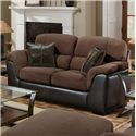 Encore E388 Upholstered Loveseat with Exposed Wood Legs