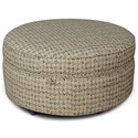 England Allison Round Storage Ottoman - Item Number: 3550-81-Lucca-Portrait
