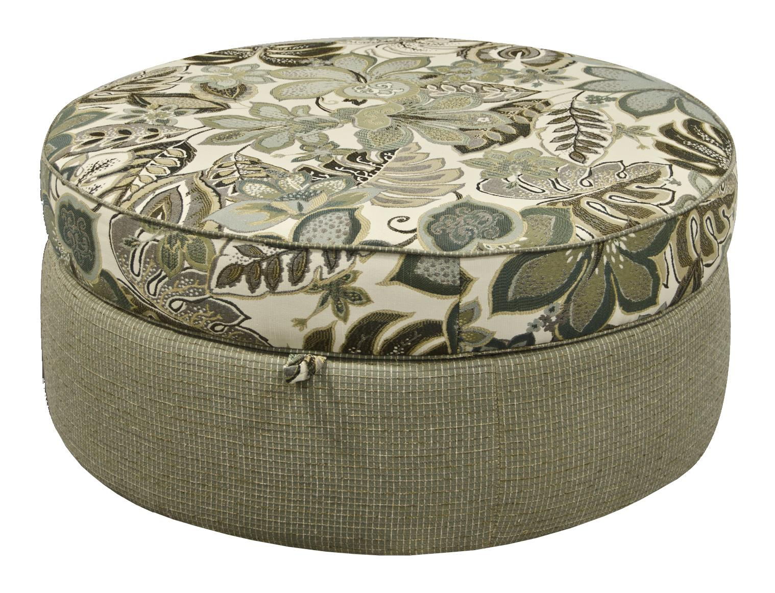Olena Round Storage Ottoman by England at EFO Furniture Outlet