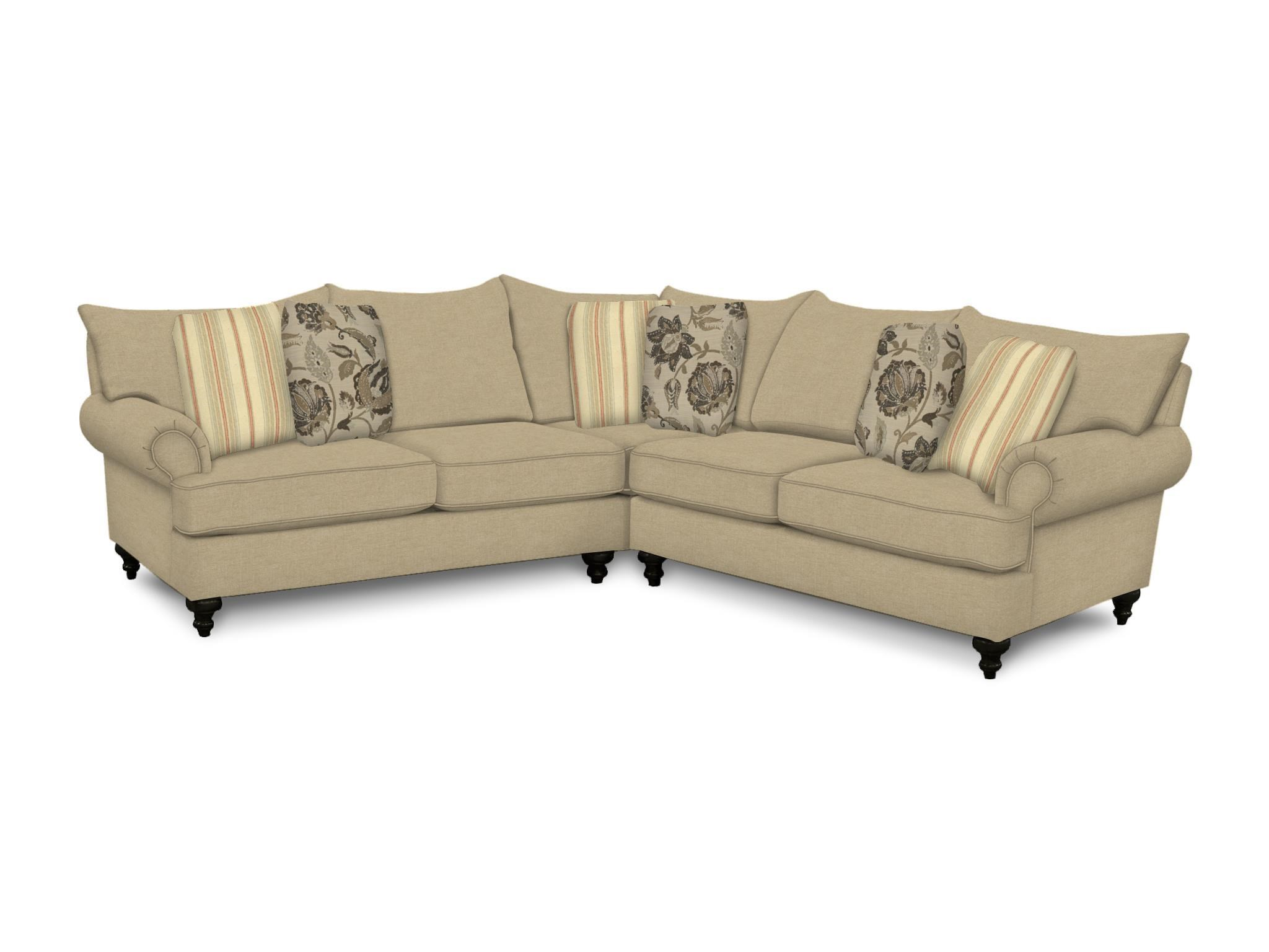 England Rosalie Sofa Sectional - Item Number: 4Y00-27+64