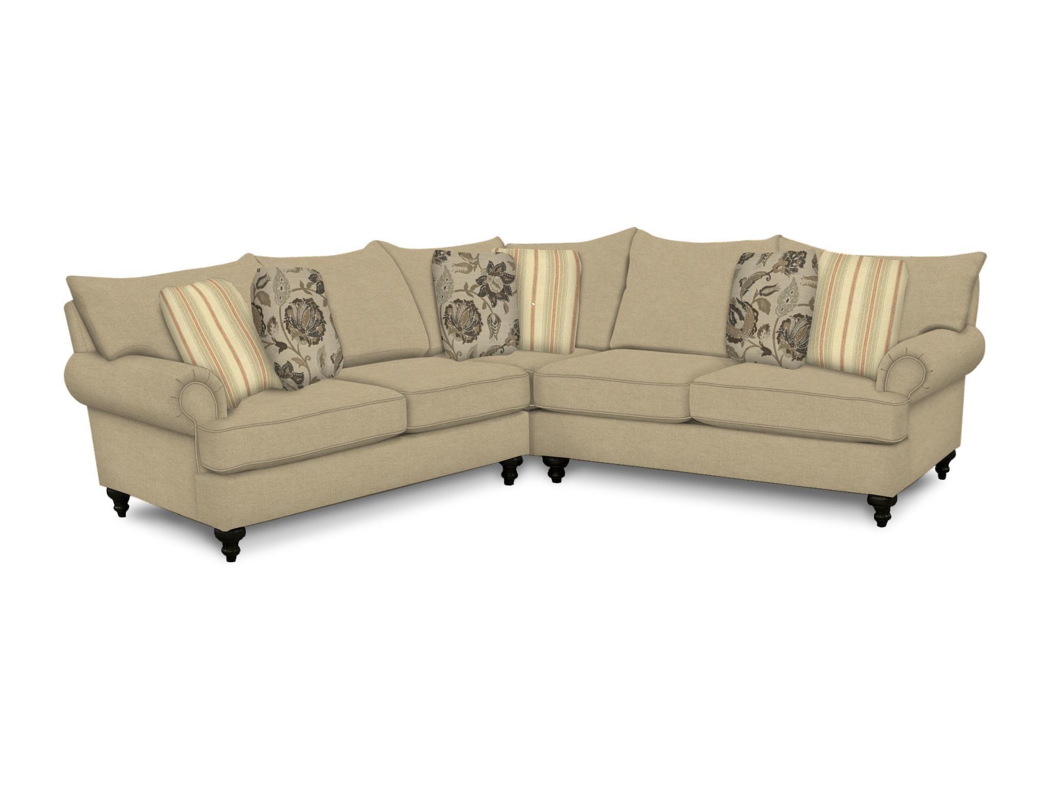 England Rosalie Laf Loveseat & Raf Corner Sofa Reeds Furniture