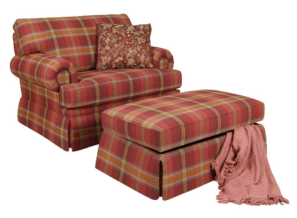 England Clare Accent Chair And Skirted Ottoman Dunk