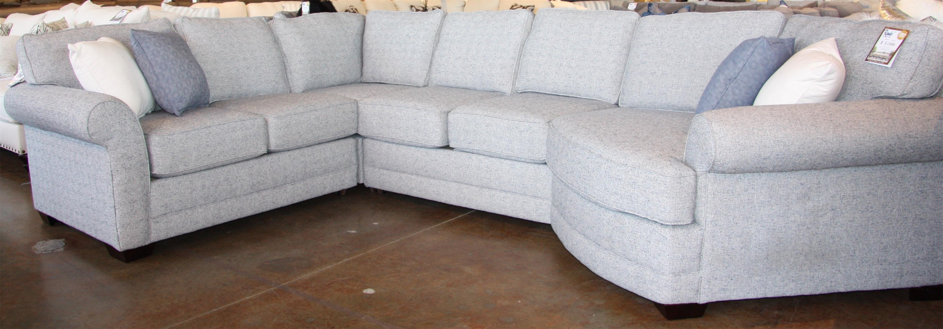 4 PC Sectional with Cuddler