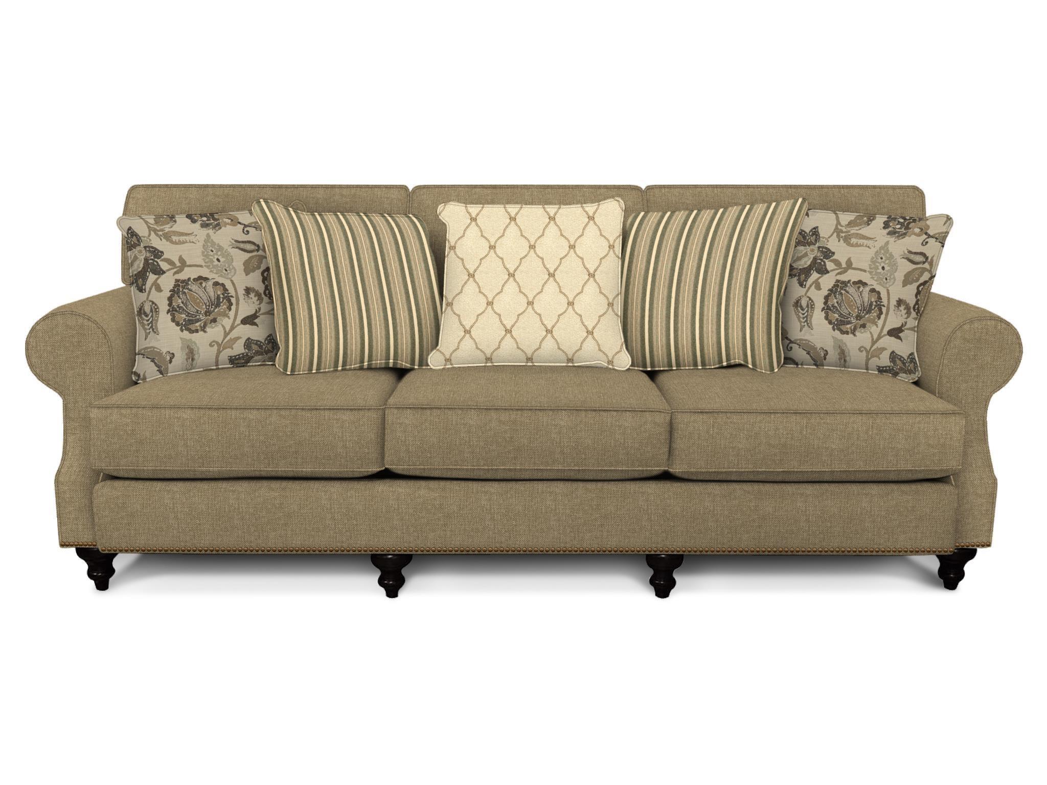 England Layla Sofa - Item Number: 5M05N GRANDE-PEWTER