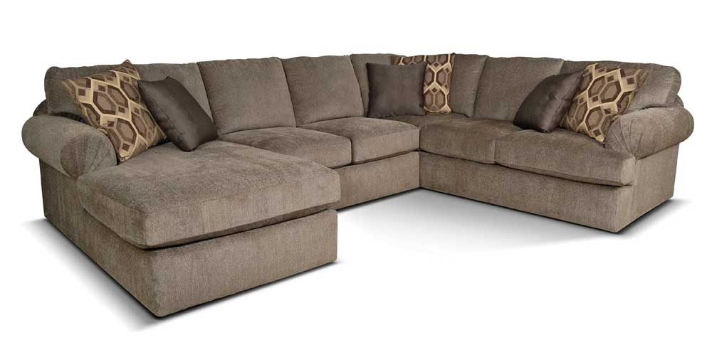 England abbie left chaise sectional sofa with large for Camo chaise lounge