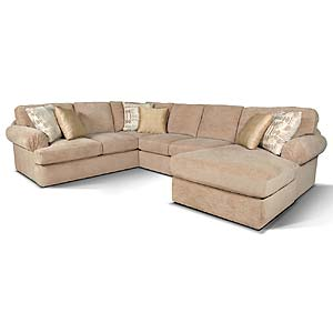 England Abbie Sectional Sofa with Right Chaise