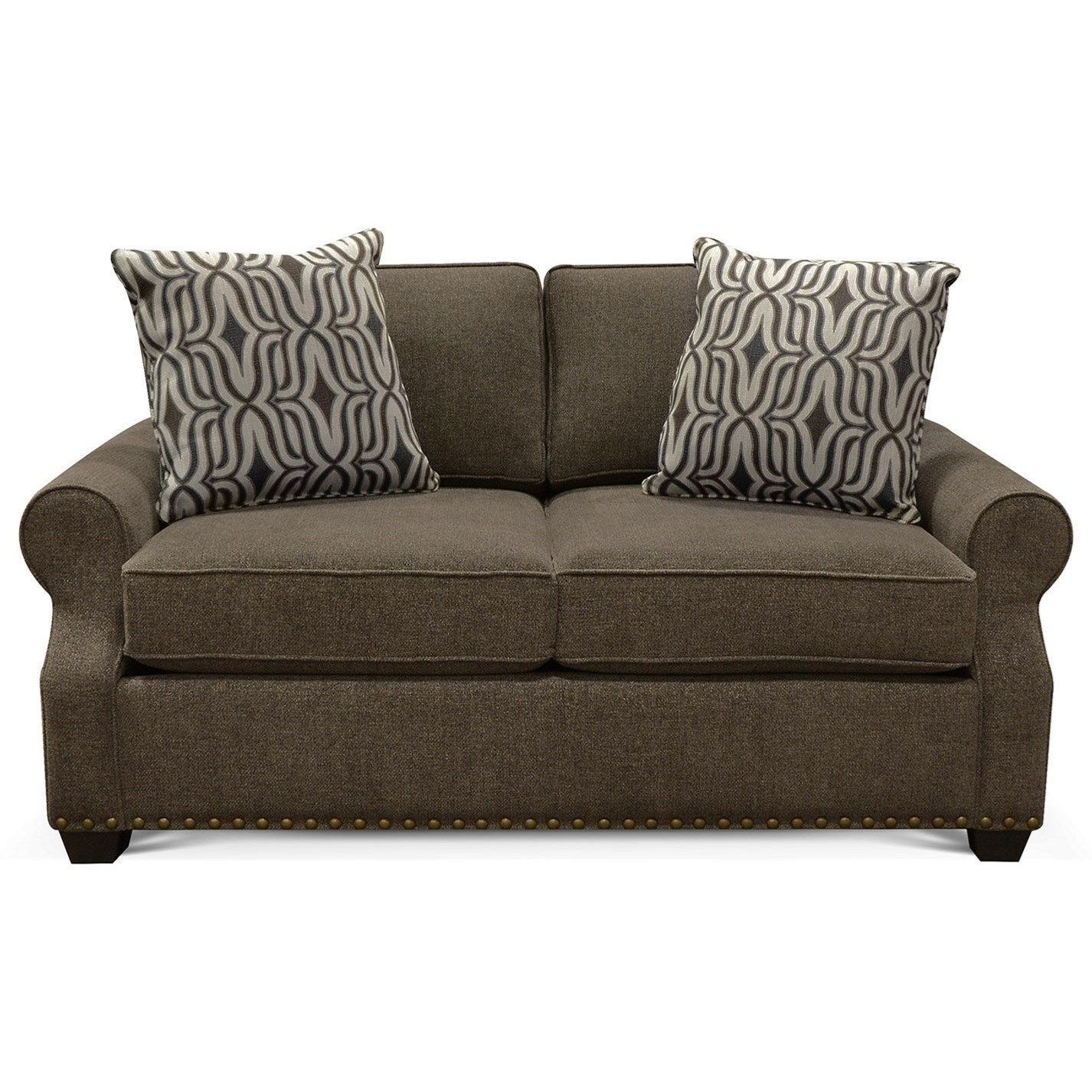 England Adele 5l06n 7731 Loveseat With Nailheads Furniture And Appliancemart Love Seats