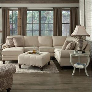 England Amix Six Seat Sectional with Left Chaise : england sectionals - Sectionals, Sofas & Couches