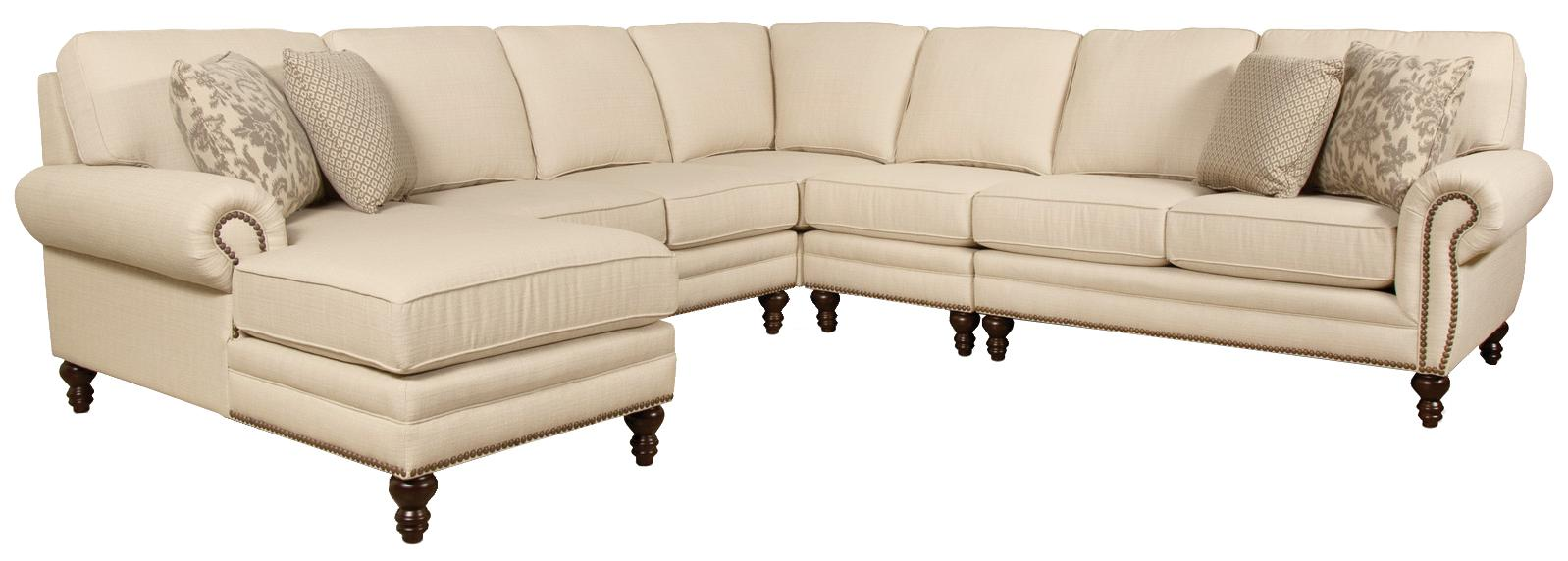 Seven Seat Sectional with Left Chaise