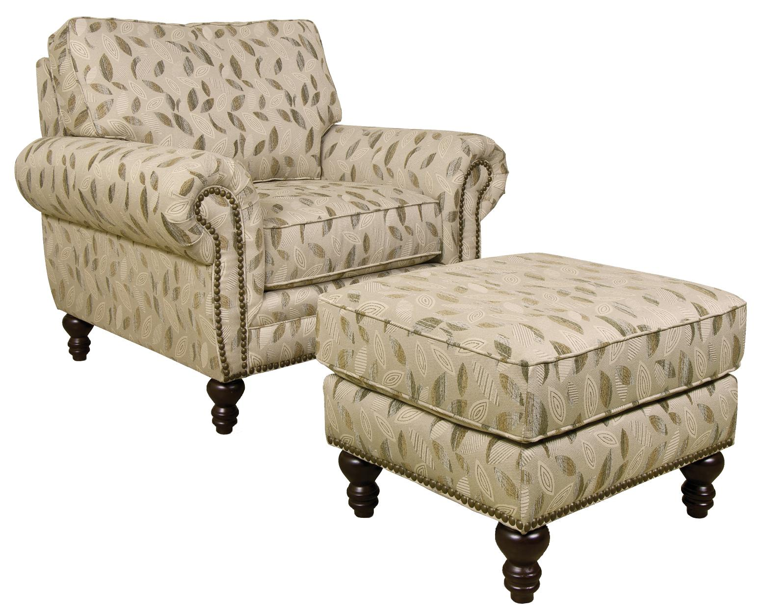 England Amix  Chair and Ottoman - Item Number: 7134+7137