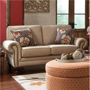 England Amix Seven Seat Sectional Sofa With Right Side