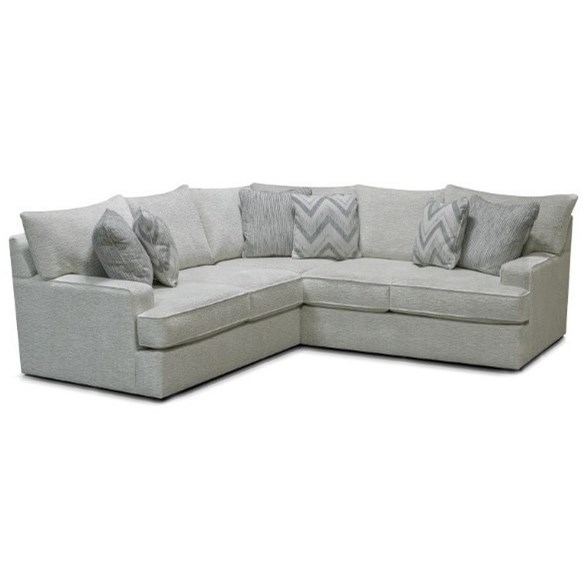 Anderson Right-Facing 2-Piece Sectional by England at Van Hill Furniture