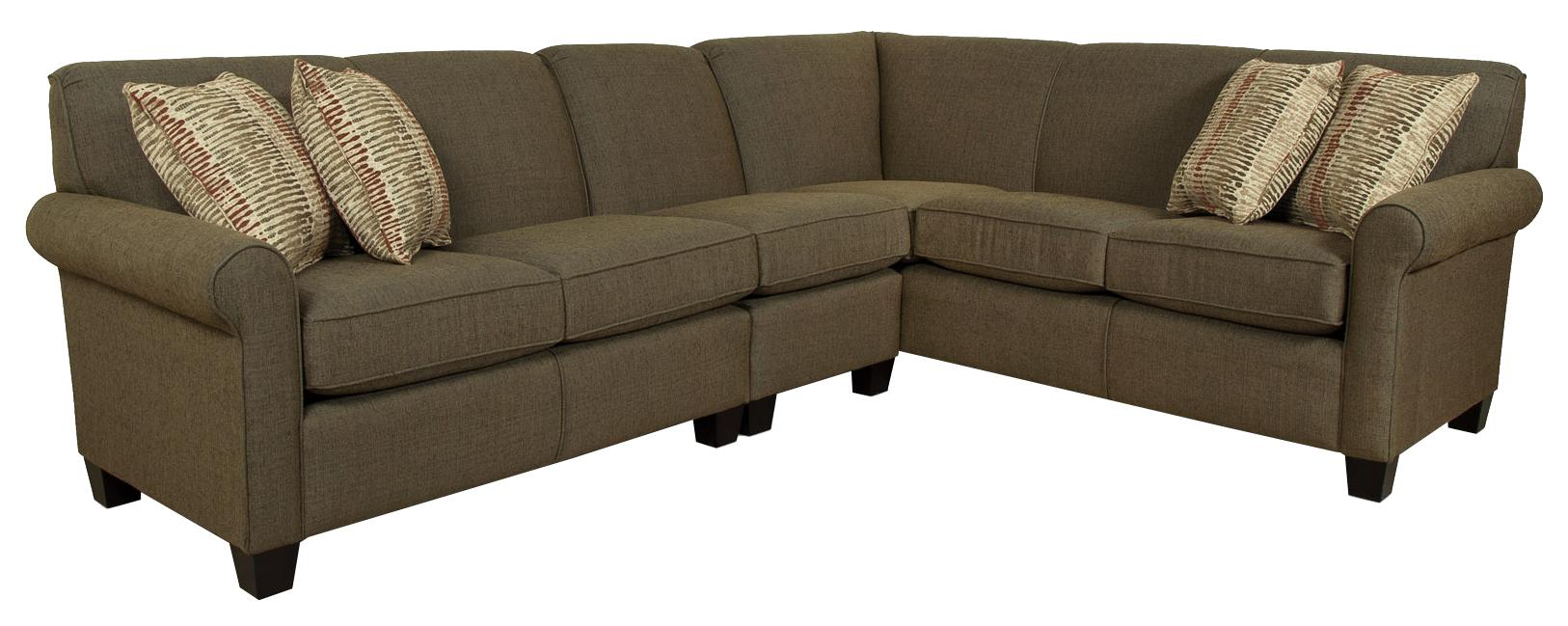 England Angie  Sectional Sofa - Item Number: 4630-28+39+63