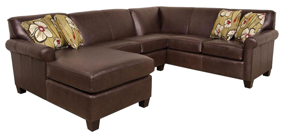 England Lilly Sectional Sofa  - Item Number: 463006L+43L+63L