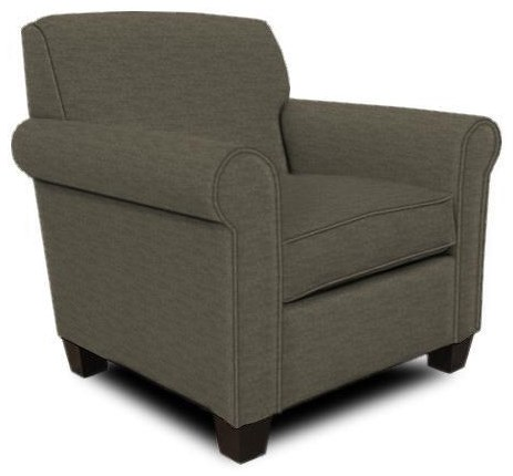Damian Casual Rolled Arm Chair by England at Crowley Furniture & Mattress