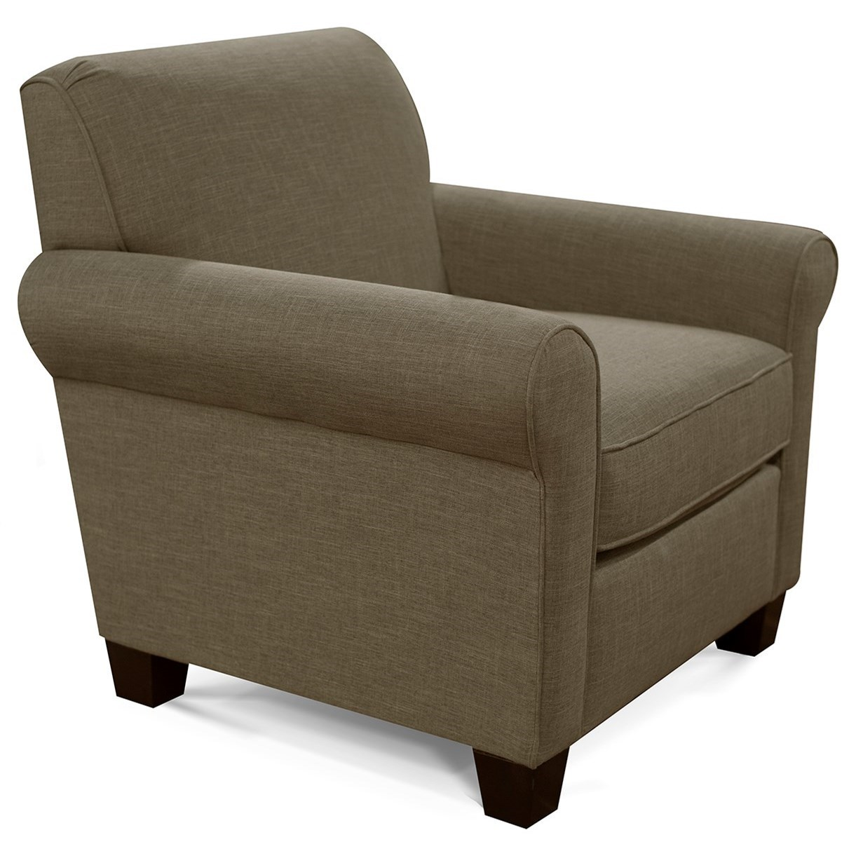 Angie  Casual Rolled Arm Chair by England at Lapeer Furniture & Mattress Center