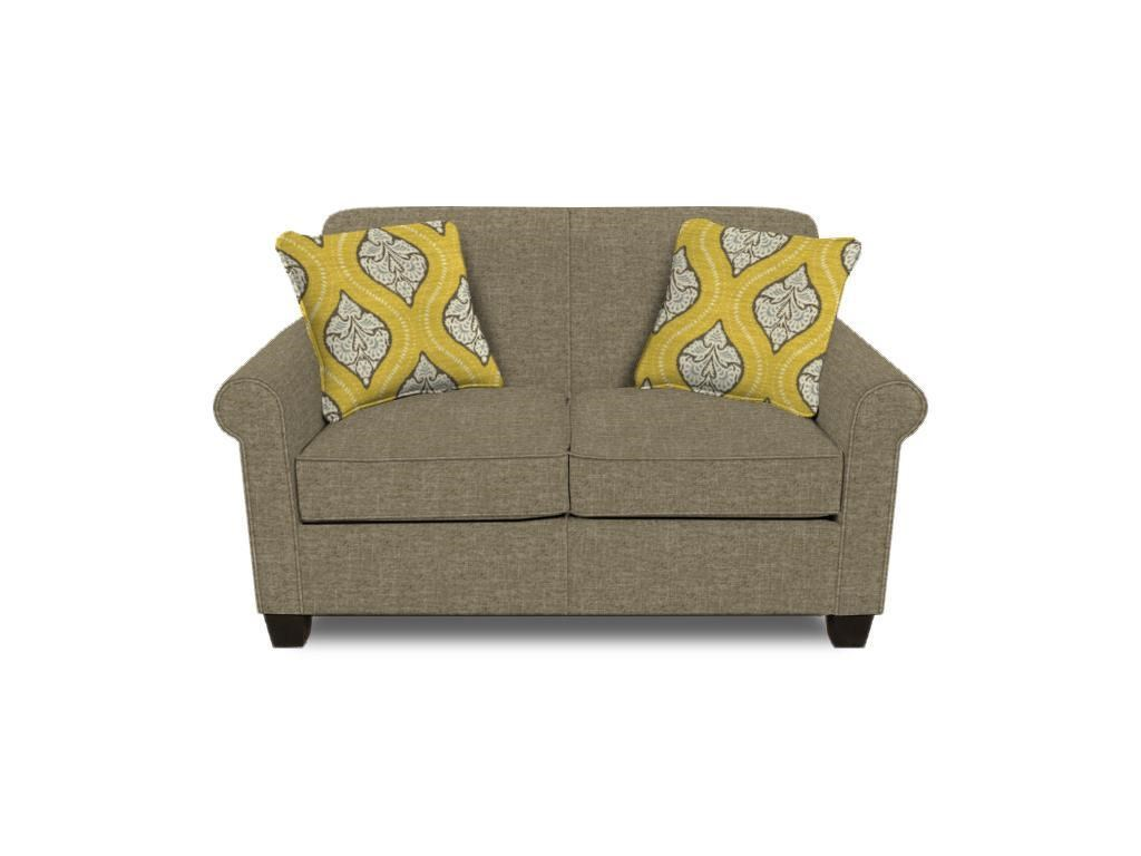 England Angie  Rolled Arm Love Seat - Item Number: 4636-6034
