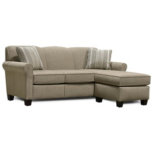 Sectional Sofa with Floating Ottoman