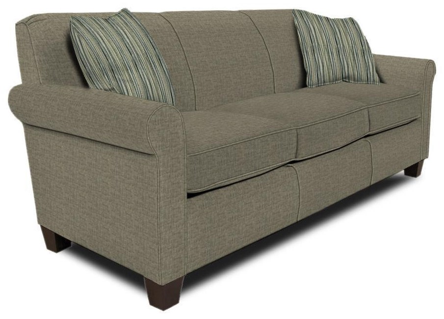 Damian Queen Sleeper with Visco Mattress by England at Crowley Furniture & Mattress