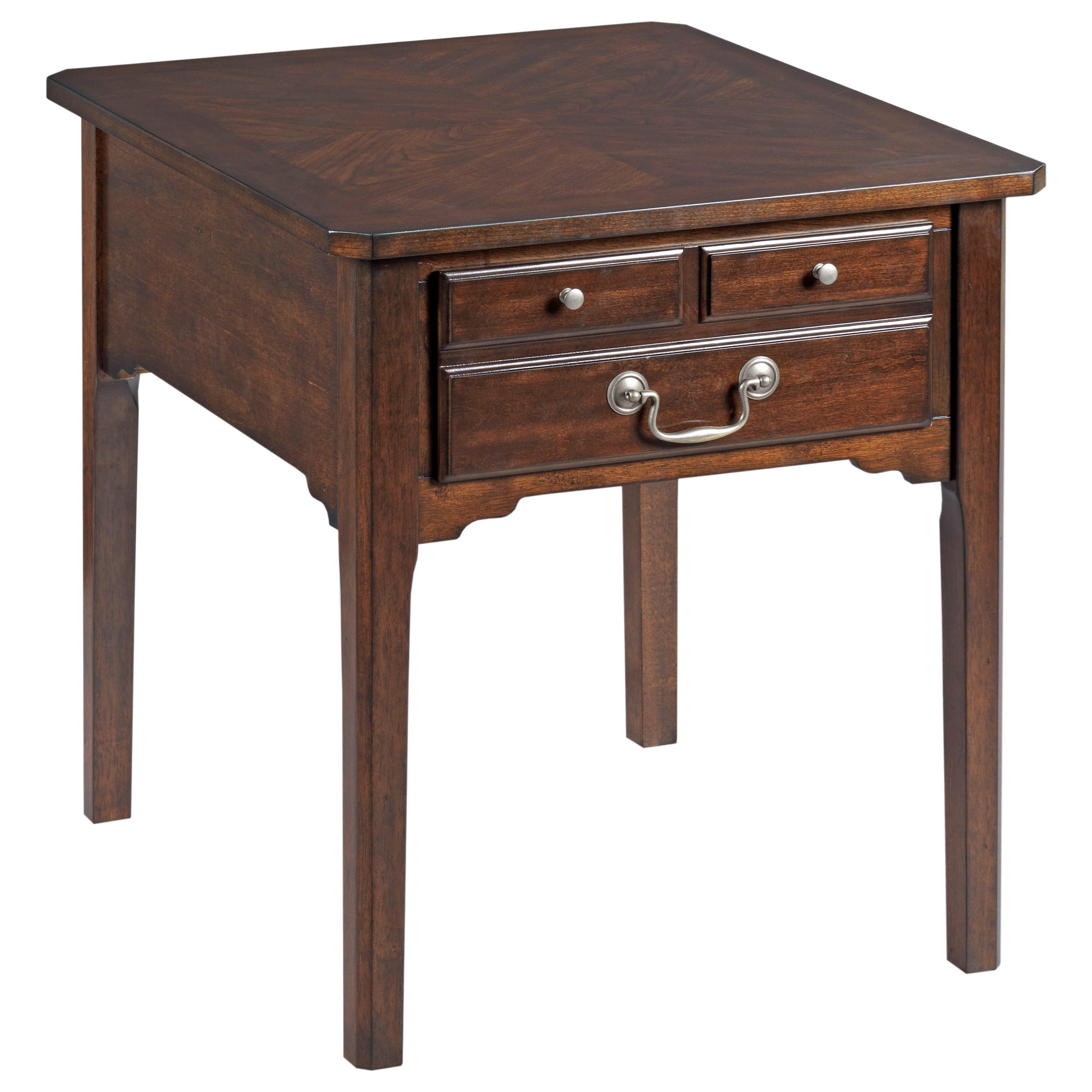 Arcadia Rectangular Drawer End Table by England at Virginia Furniture Market
