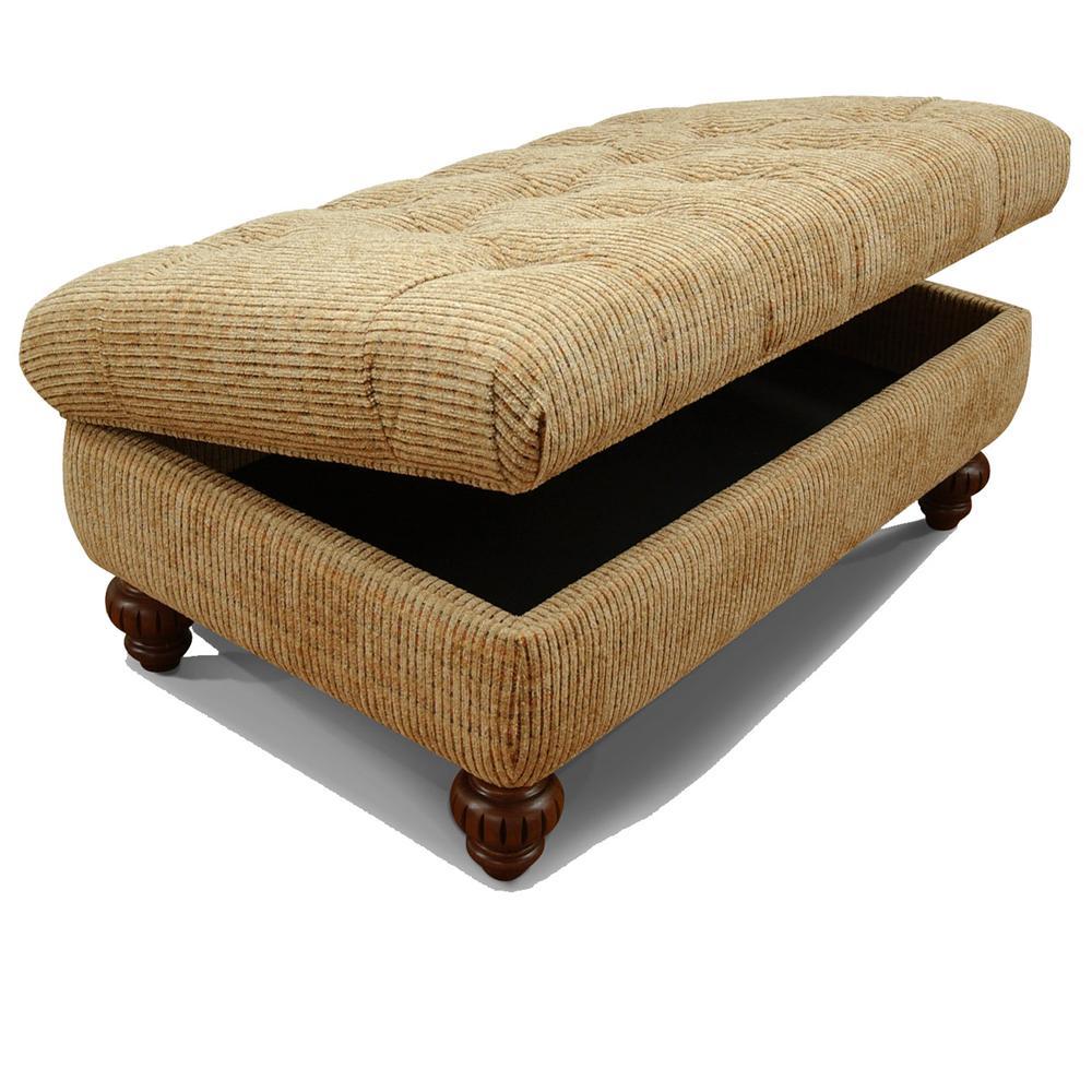 Leather Sofas Preston Lancashire: England Benwood Tufted Storage Ottoman