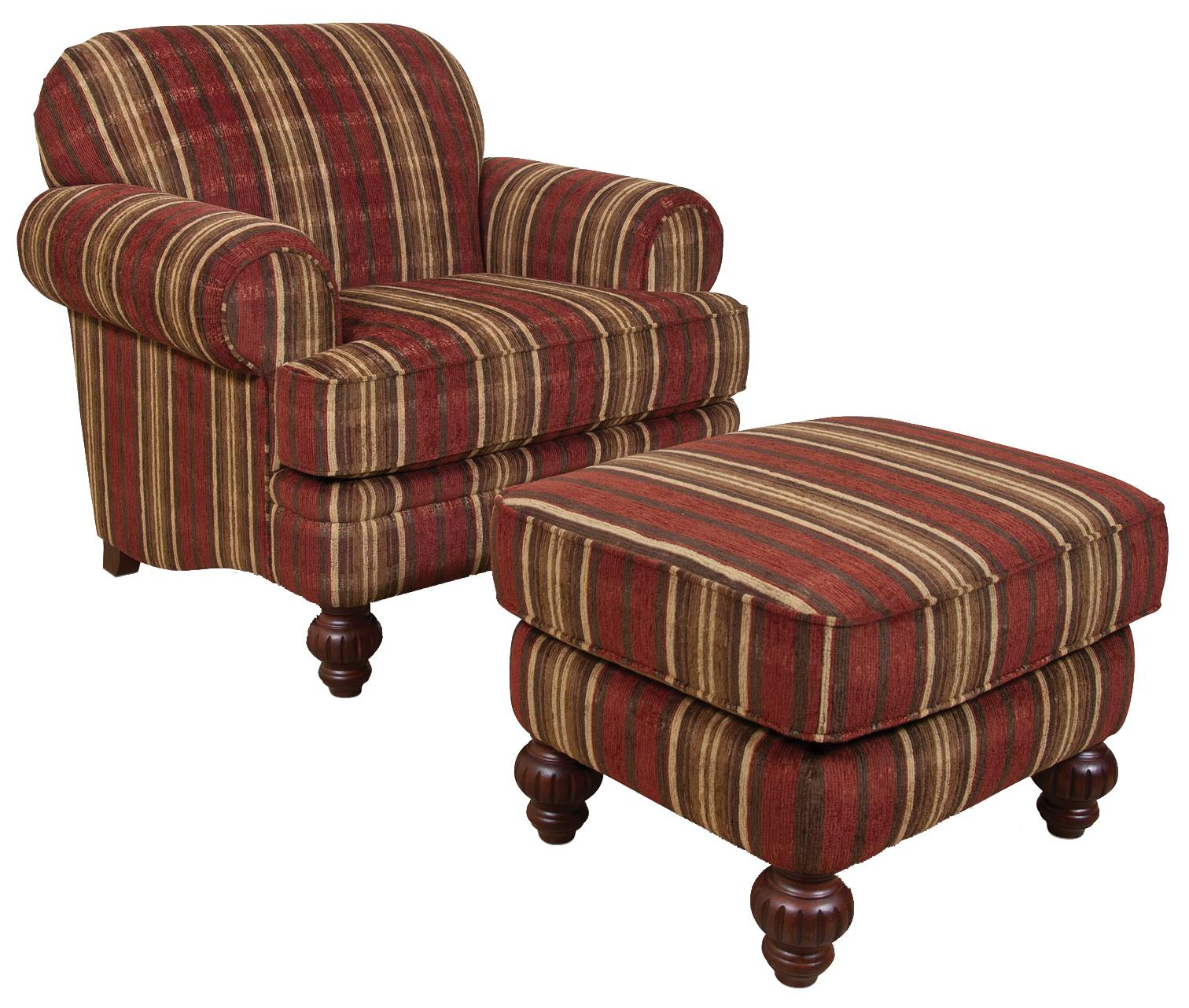 England Bill Chair and Ottoman Set - Item Number: 2544+7