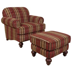 England Bill Chair and Ottoman Set