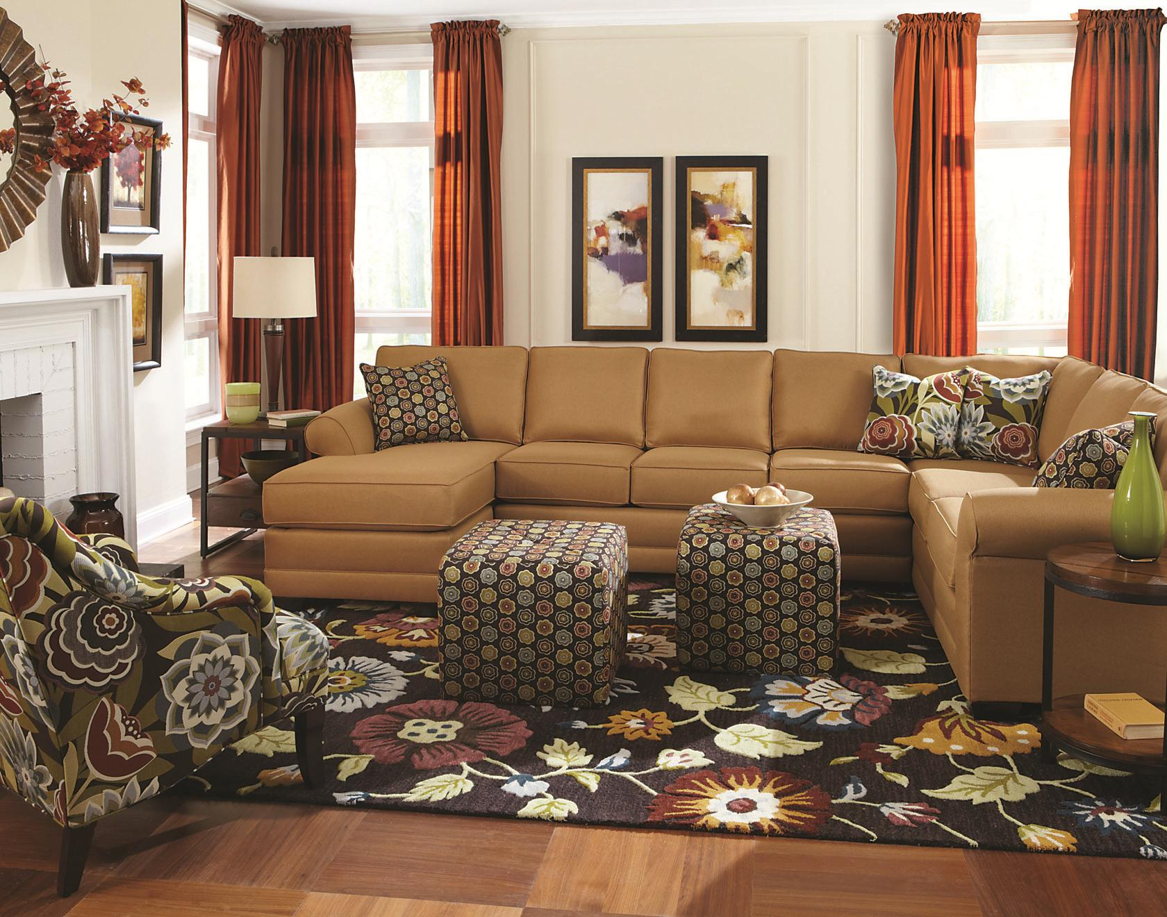England Brantley 6 Seat Sectional With Chaise Furniture