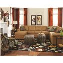 England Brantley 6 Seat Sectional with Chaise - Item Number: 5630-06+43+39+22+27