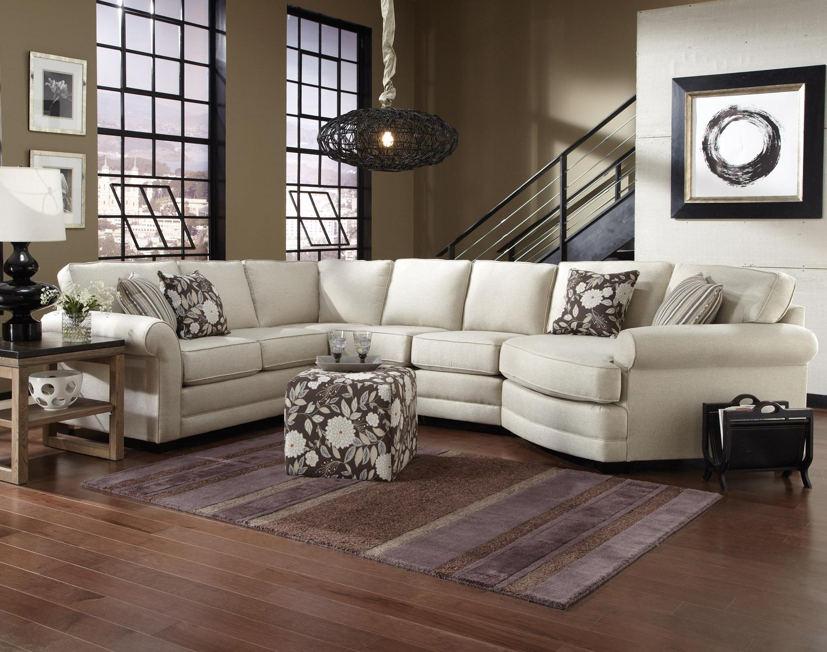 England Brantley 5 Seat Sectional Sofa with Cuddler Dunk