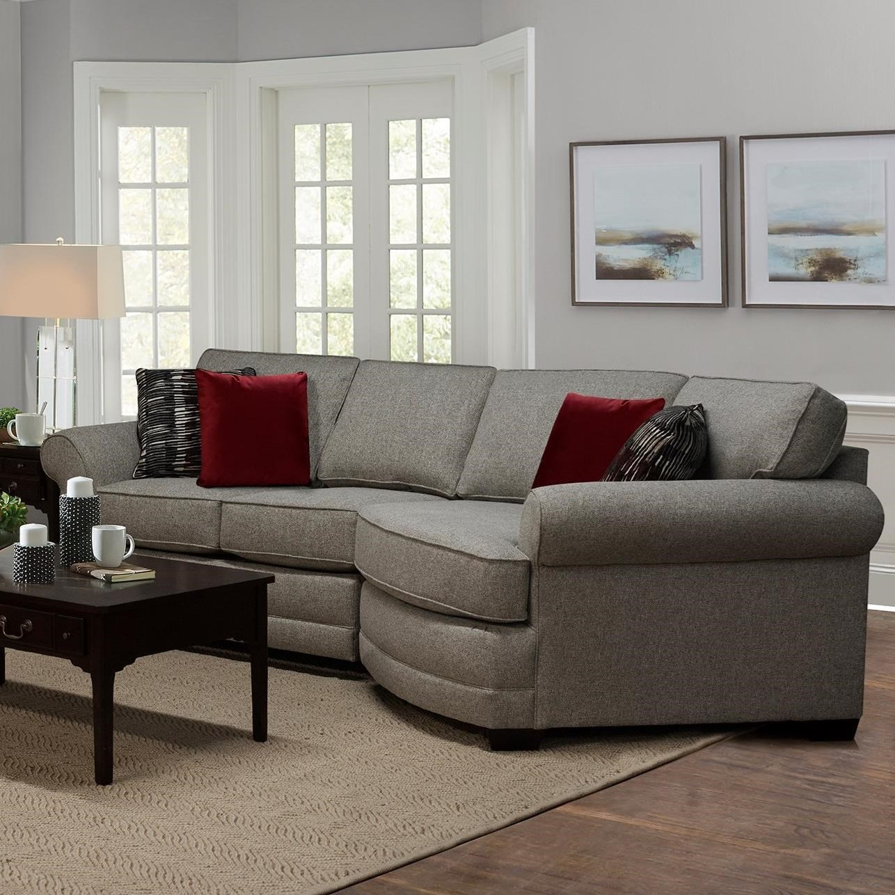 England Brantley 3 Seat Sectional Sofa With Cuddler Dunk