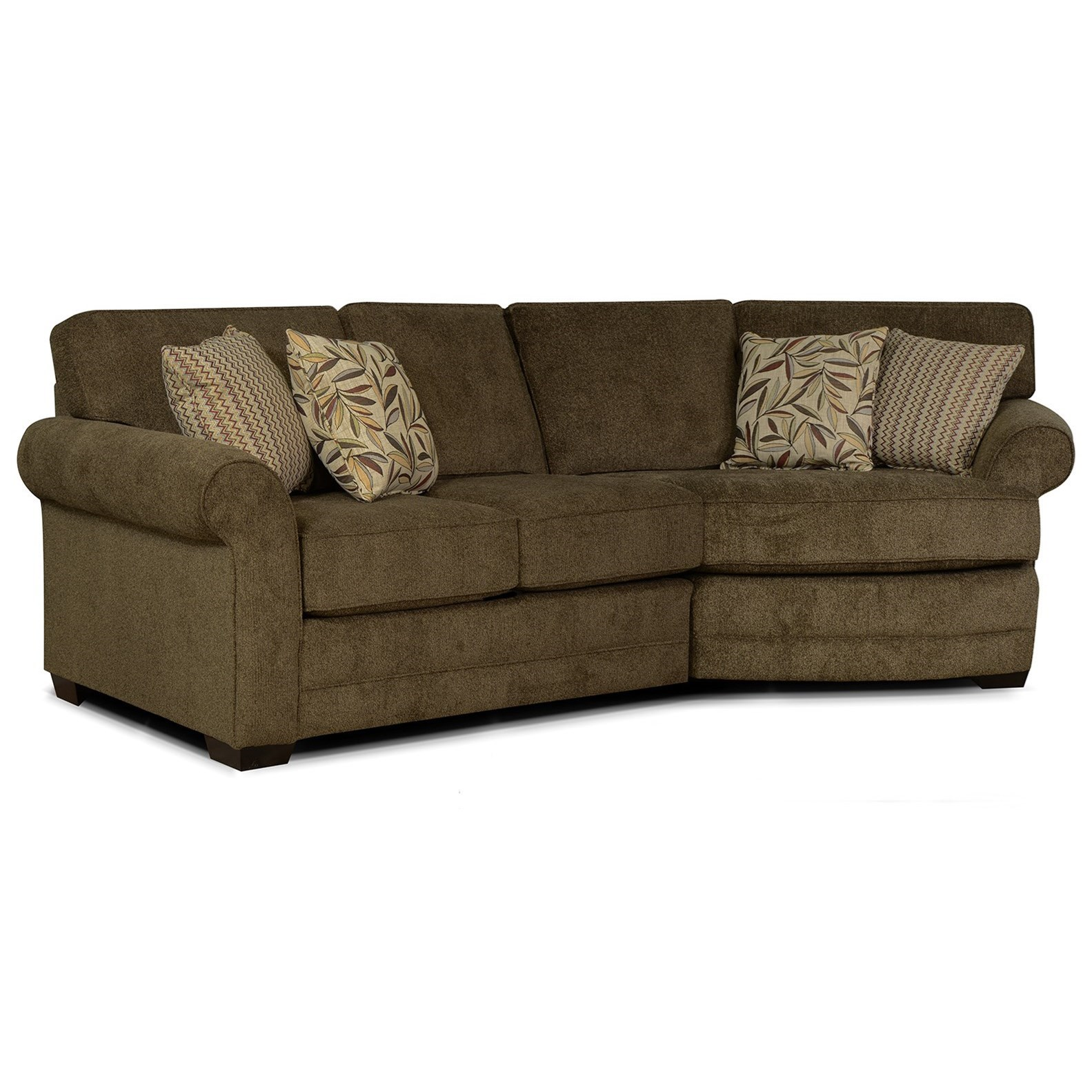 England Brantley 3 Seat Sectional Sofa with Cuddler | Dunk ...
