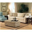 England Brantley Upholstered Storage Ottoman - Shown with Sofa