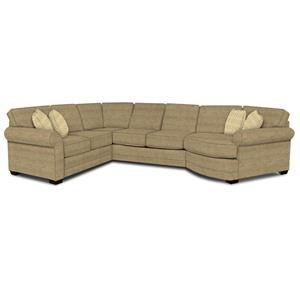 England Brantley 4-Piece Cuddler Sectional