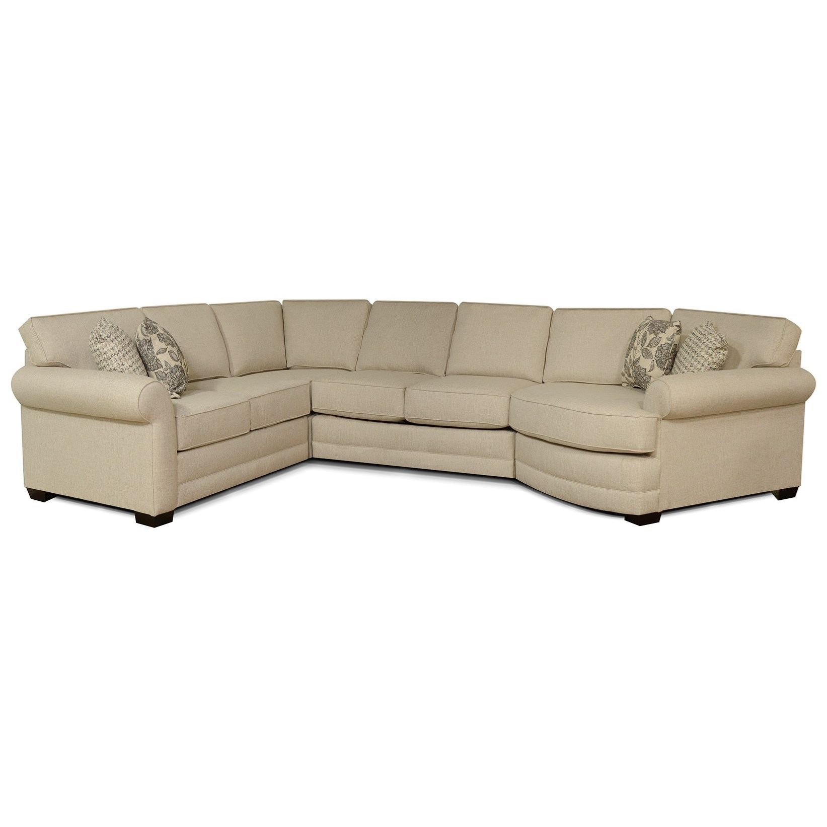 Brantley 5 Seat Sectional Sofa with Cuddler by England at Pilgrim Furniture  City