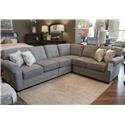 England Brantley Brevard Greys 4Pc Sectional - Item Number: GRP-5630-4PCSECT