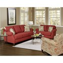England Brinson and Jones Stationary Living Room Group - Item Number: 1Z00 Living Room Group