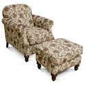 England Brinson and Jones Small Scale Chair and Ottoman Set - Item Number: 2Z04+07-Tulsa Classic