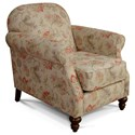 England Brinson and Jones Small Scale Chair - Item Number: 2Z04-Satya Carnelian
