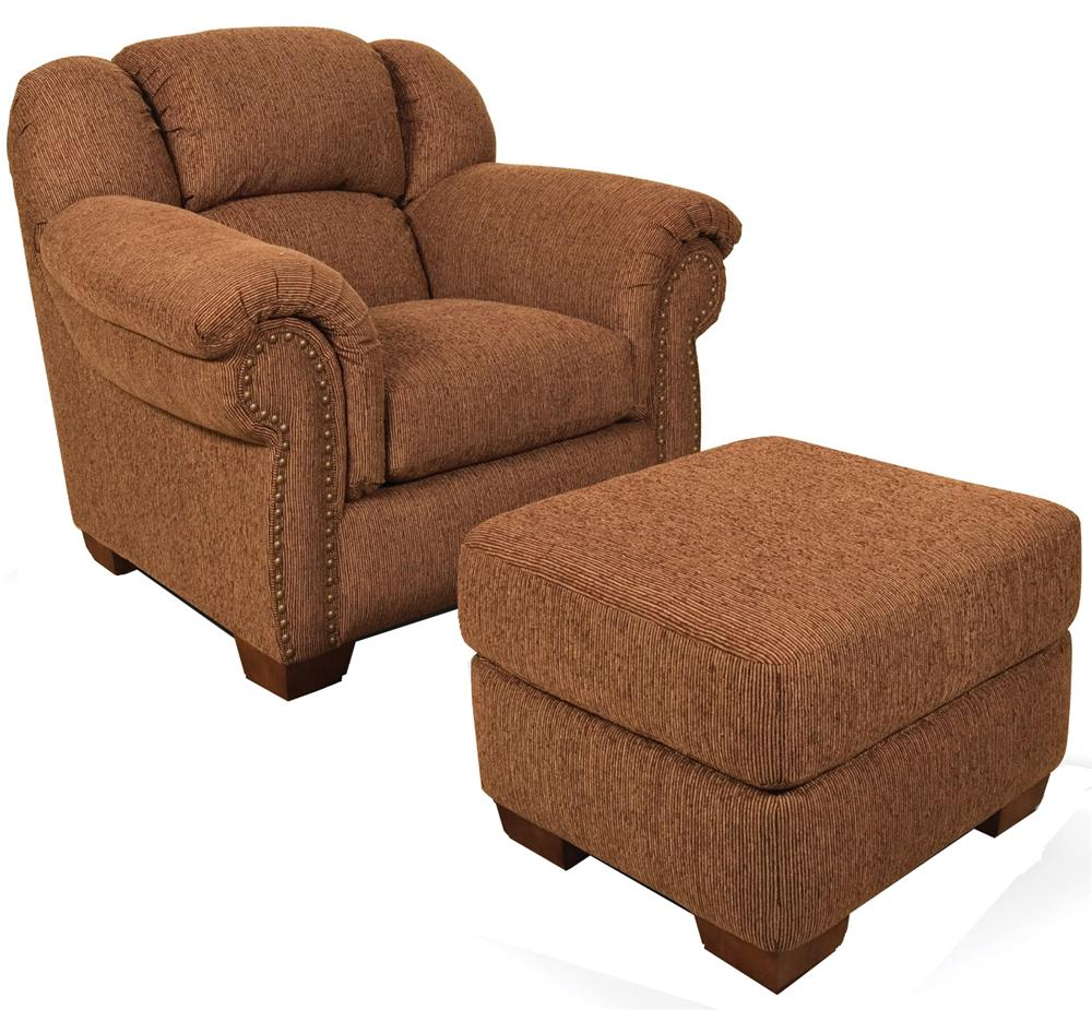 England Bryce Bryce Chair and Ottoman - Item Number: 2684+2687