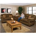 England Bryce Overstuffed Loveseat - Shown With Bryce Sofa
