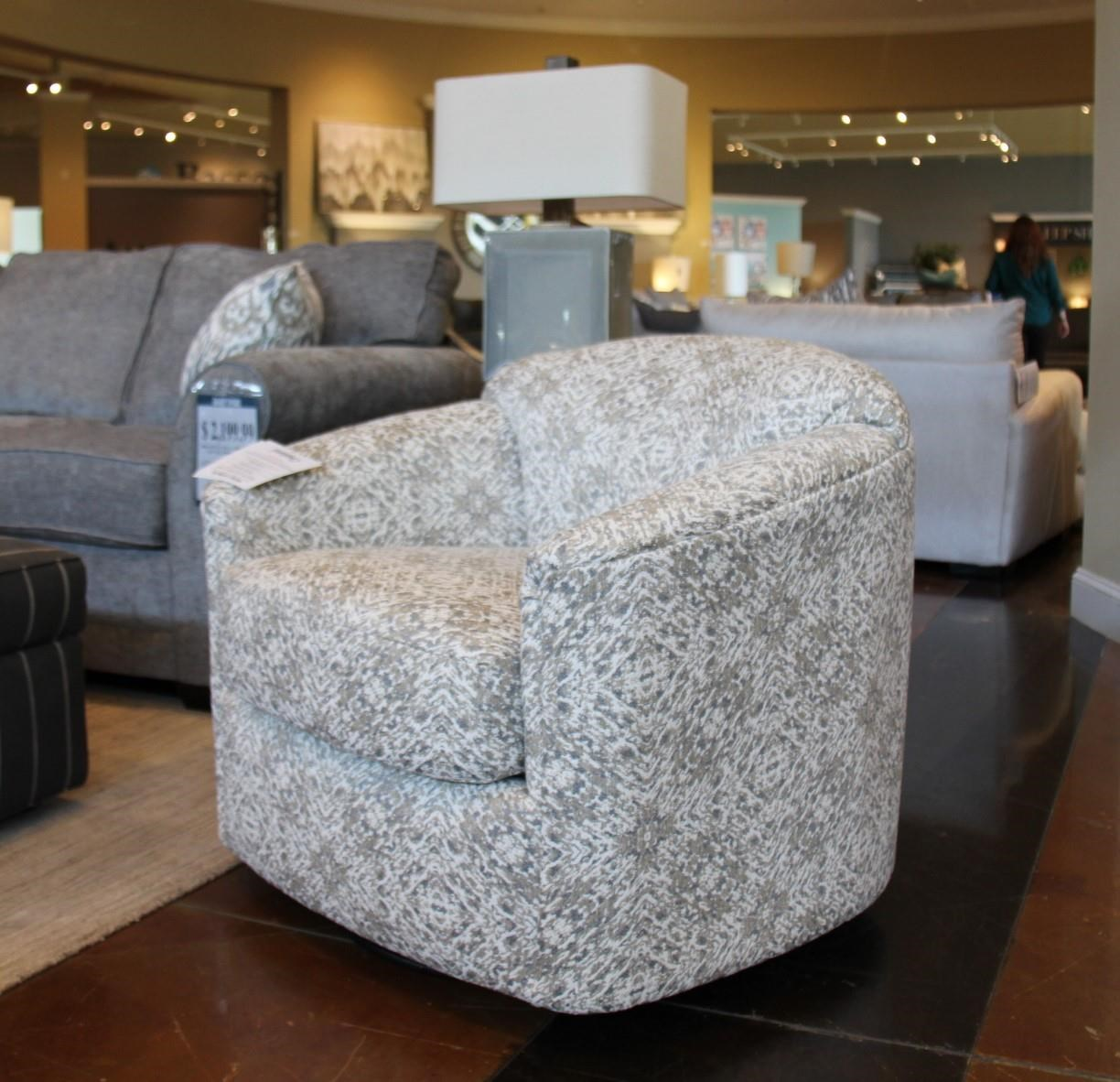 Spin City Flannel Swivel Glider Chair