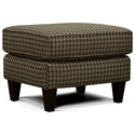 England Cannon Ottoman - Item Number: 7S07-Clever Tweed